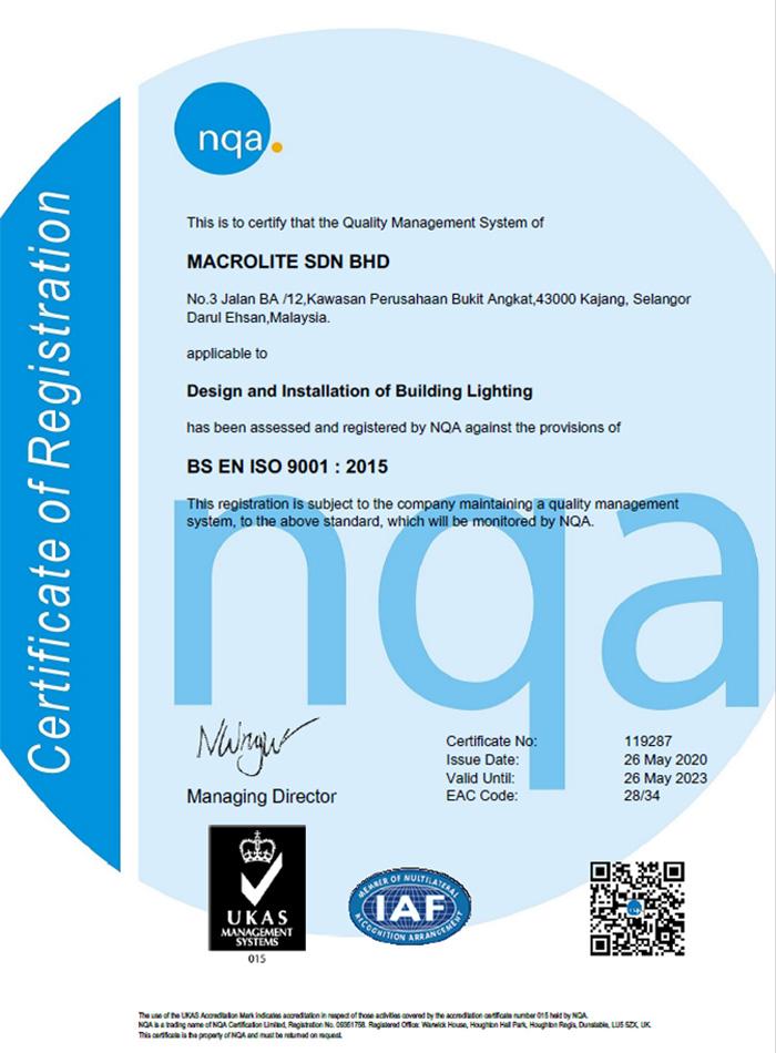 Macrolite ISO9001